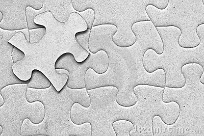 One floating piece of puzzle