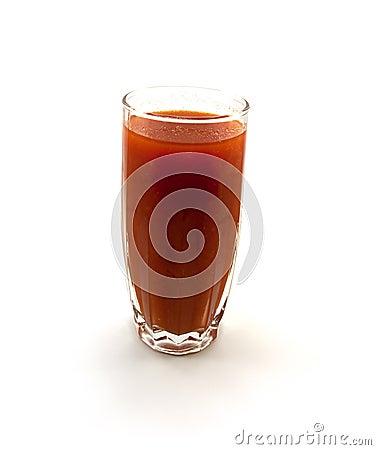 One glass of tomato juice