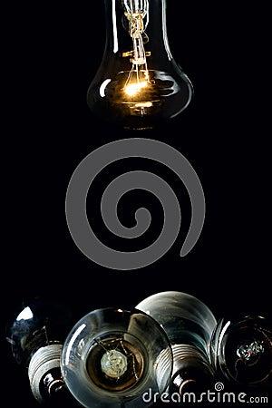One glow bulb lamp