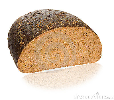 One Half of black bread
