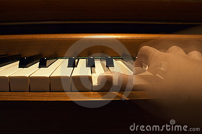 One Hand Playing The Piano