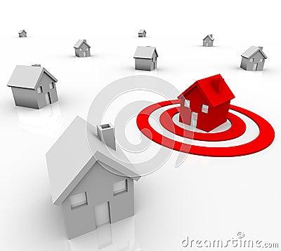 One House in Bulls-Eye Target - Marketing