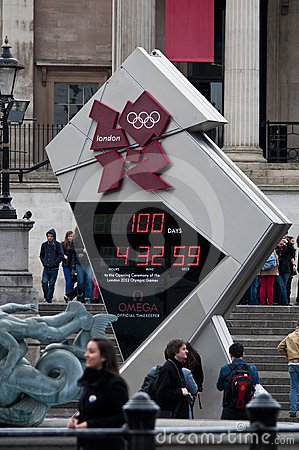 One hundred days to the Olympics Editorial Photography
