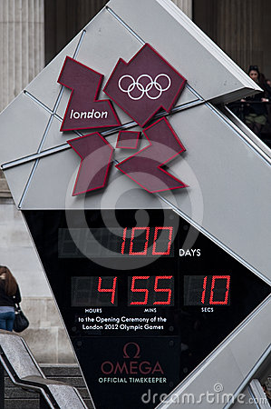 One hundred days to the Olympics Editorial Stock Photo