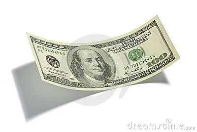 One Hundred Dollar Bill Isolated