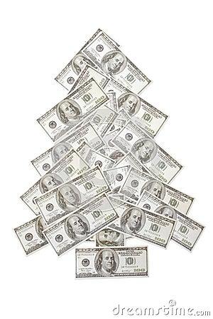 One hundred dollar xmas tree