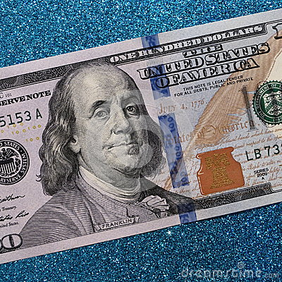 One hundred dollars - 100 Dollar Bill Stock Photos