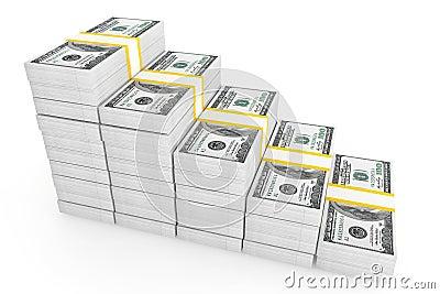 One hundred dollars stack