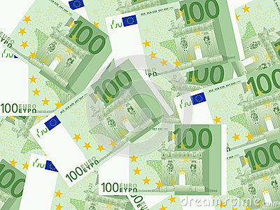 One hundred euro background