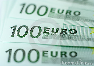 One Hundred Euro Banknotes