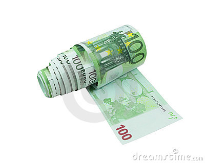 One hundred euro bills toilet paper