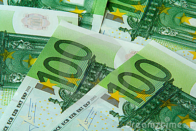 One hundred euro nominal banknotes
