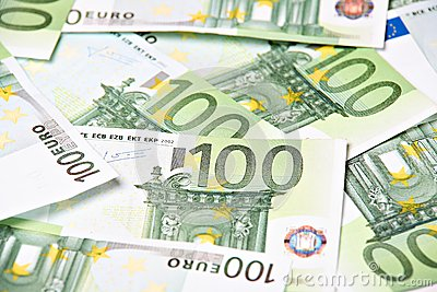 One hundred euros background