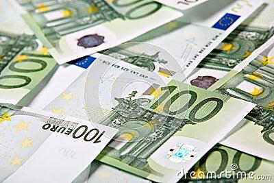 One hundred euros background