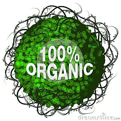 One Hundred Percent Organic Shrub Icon