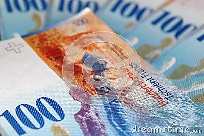 One hundred swiss francs