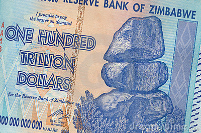 One hundred trillion dollars - Zimbabwe