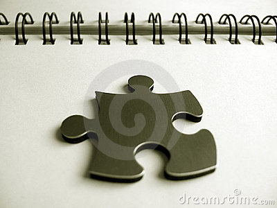 One jigsaw piece