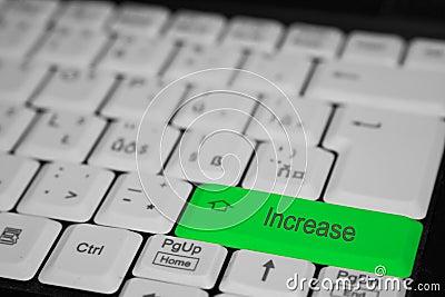 One key press increase