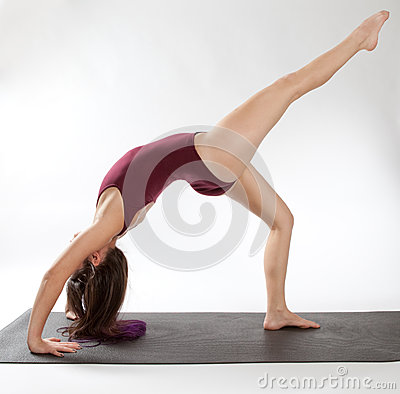 One Legged Wheel Pose