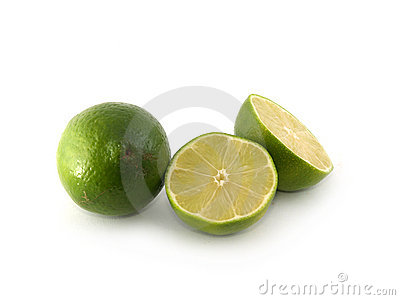 One lime and two halves