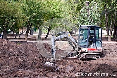 Excavator construction machinery