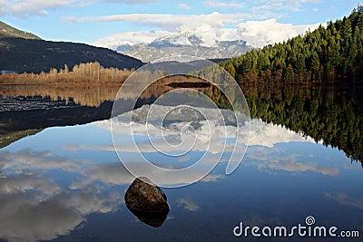 One mile lake reflection