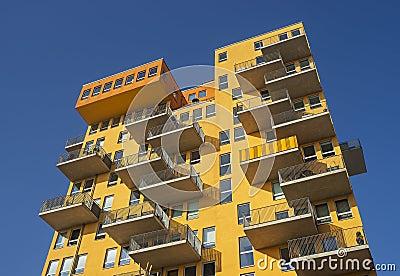 Modern architecture in Munich in Bavaria