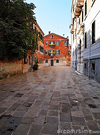 Free One Of Street In Venice , Italy Stock Photography - 19228262