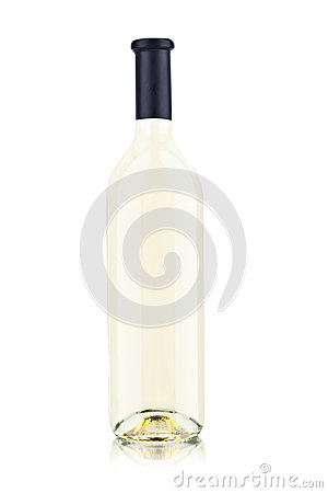 Free One Of White Wine Bottle Royalty Free Stock Photo - 68619435