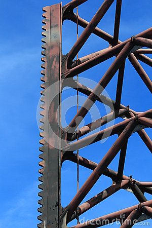 One Offshore Jack Up Rig Leg Close Up Royalty Free Stock