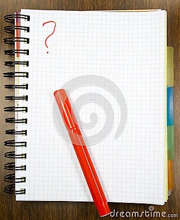 One open notebook