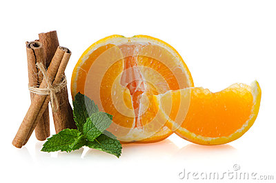 One orange fruit segment