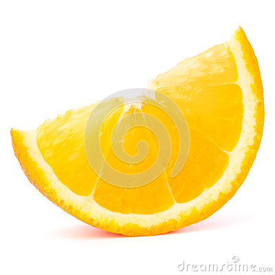One orange fruit segment or cantle