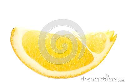 One orange segment.
