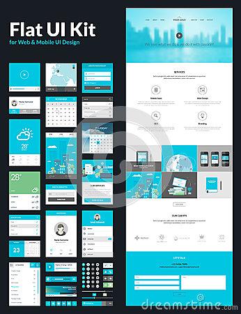 Free One Page Website Design Template Royalty Free Stock Images - 41362849