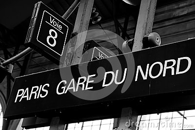 Paris Gare du Nord Sign