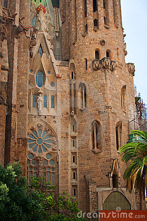 One part of Sagrada Familia