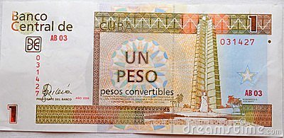One peso from cuba