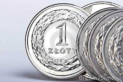 One Polish zloty coins