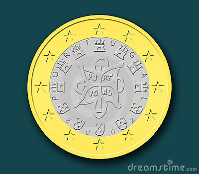 One Portuguese Euro Coin