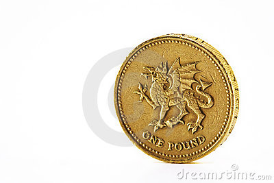 One pound coin.