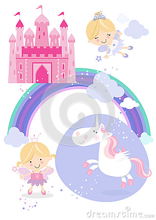 Fairytale set icons/illustrations