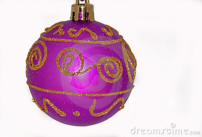 One Purple Ball Christmas Ornament