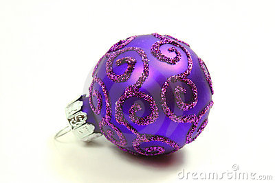 One purple glass ball