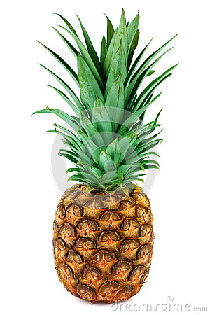 One ripe pineapple