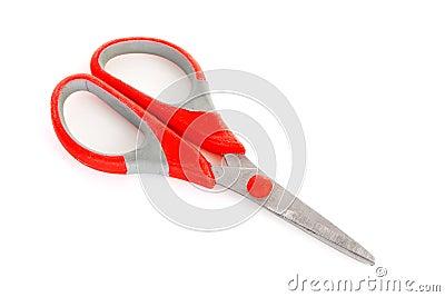 One scissors over white