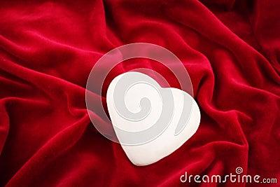 One shining heart over velvet