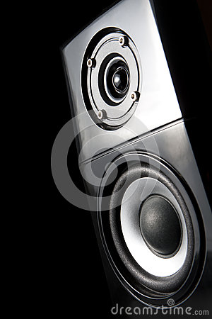 One speaker, from front to light up.