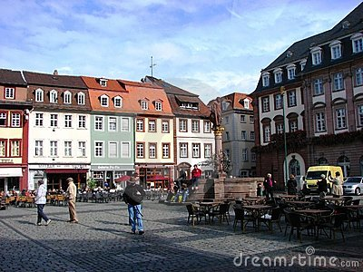 One of the square of the Heidelberg, Germany Editorial Photo